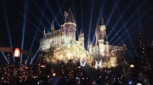 lighting universal. Nighttime Lights At Hogwarts Castle, Harry Potter Projection Show, Universal Studios Hollywood Lighting E