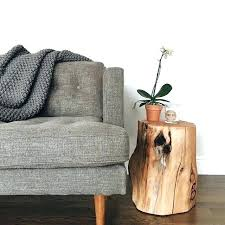 natural tree stump side table how to make a simple clean stylish natural tree stump side