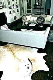 silver cowhide rug metallic white faux on contemporary