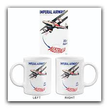 Browse our promotional and personalized mugs & cups. Australia Imperial Airways 1935 Travel Poster Mug Poster Rama