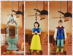 disney snow white prince charming ceiling fan pull light lamp chain decor 272abc