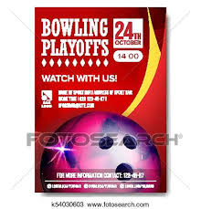 Bowling Event Flyer Bowling Poster Vector Design For Sport Bar Promotion Bowling Ball Modern Tournament A4 Size Championship Bowling League Flyer Template Game