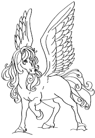 Coloriage Cheval Volant Imprimer Animaux Coloriage Licorne Ail Animaux