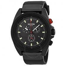nixon the rover chronograph all black red men s watch a290760 nixon the rover chronograph all black red men s watch a290760