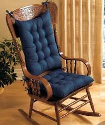 padded rocking chair. Interesting Chair PADDED ROCKING CHAIR CUSHION SET  BLUE For Padded Rocking Chair
