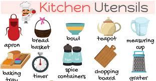 Kitchen Articles Chart Kitchen Utensils List Of Essential Kitchen Tools With