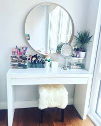 elegant makeup table. Makeup Desk Light Elegant Vanity Table By Ikea Malm Dressing With