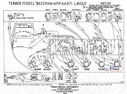This illustration shows the gain stage mod breaking out the area around tube positions v1 and v2 from a schematic drawing of an aa371 bassman