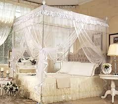 Amazon.com: Nattey 4 Poster Corners Princess Bed Curtain Canopy ...