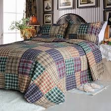 conrad 100 cotton 3pc vermicelli quilted patchwork quilt set king size