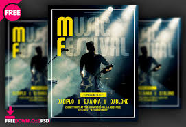 Free Music Poster Templates Free Download Music Festival Flyer Freedownloadpsd Com