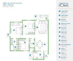 3bhk 1t 9 super area 1750 sq ft apartment