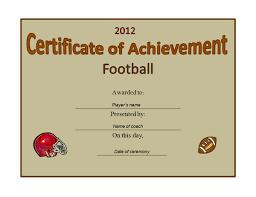 Printable Football Certificates Uk Download Them Or Print