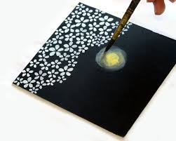 How To Paint Cherry Blossoms On Black Paper A Piece Of Rainbow