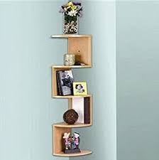 Oak Corner Shelving Amazon Stackable 100 Tier Oak Zig Zag Corner Wall Shelves 31