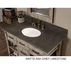 rustic bathroom vanity carrera white grey top