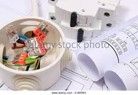fuse box house stock photos fuse box house stock images alamy copper wire connections in electrical box rolls of electrical diagrams and electric fuse on construction