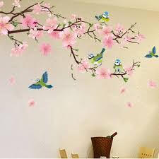 Small Picture Aliexpresscom Buy Romantic Peach Blossom and Swallow PVC