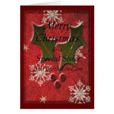 Christmas Special Sister Holiday Card Zazzle Com 2017