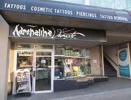 Vancouver Kitsilano West 4th Tattoo Piercing Shop Adrenaline Vancity