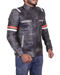 cafe racer retro moto leather jacket cafe