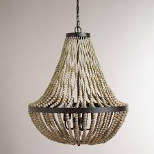 interior amazing ceiling light wood bead chandelier for home beaded pendant lamp