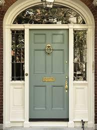 exterior front door entrance entry transom window beveled