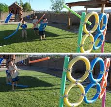 giant ring toss and pool noodle target throwing diy summer to entertain kids this