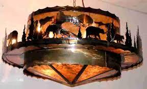 rustic lighting mica chandelier