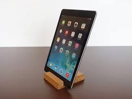 oak wood ipad stand