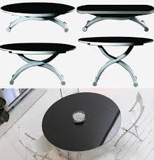 Transforming Metal Collapsing Dinner Table