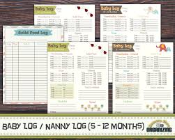 baby log months nanny log baby s day schedule 128270zoom