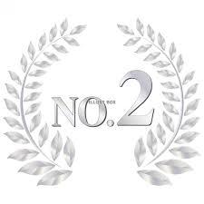 無料イラスト 飾り枠エンブレム2位おしゃれフレーム枠準優勝アイコン