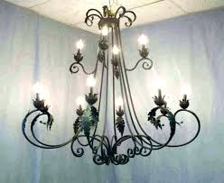 chandeliers candles outdoor candle chandelier wrought iron rustic