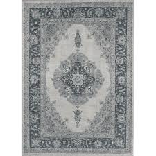 ruggable washable parisa grey 5 ft x 7 ft stain resistant area rug
