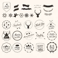 Merry Christmas Labels Vector Free Download