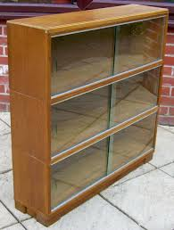 minty glass front bookcase