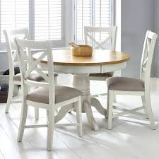extending dining table and 4 chairs painted ivory round extending dining table 4 chairs seats 4