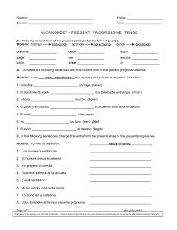 Spanish progressive worksheets | Spanish worksheets, Worksheets ...