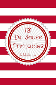 Seuss coloring sheet features the cat with nick and sally on an adventure. 13 Dr Seuss Printables Free Bookmarks That Bald Chick
