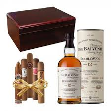 balvenie 12 year doublewood cherry executive humidor gift set