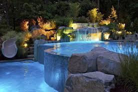 landscape lighting ideas saddle river nj fiber optic vanishing edge inground swimming pool lighting installation mahwah nj