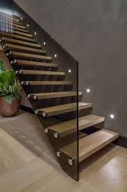 I love the lights on these stairs and how they're echoed in the bolts on  the outside of the stairs. Residence Rotterdam 8 Rotterdam Villa Displaying  a ...
