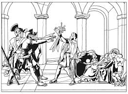 Small Picture Oath of the horatii by david Master pieces Coloring pages for