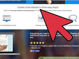 make a free website online easy how to build a free website using talkspot com with pictures