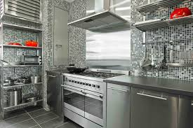 Stainless Steel Kitchen Furniture Interesting Stainless Steel Kitchen Cabinets Interior Home Design