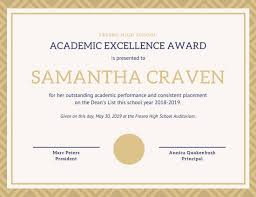 Principal Award Certificate Outstanding Student Award Template Magdalene Project Org