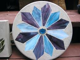 stained glass stepping stones inch round stepping stone stained glass stepping stone kits