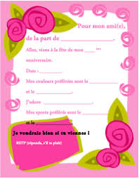 a birthday invitation ah bon french writable birthday invitation printables