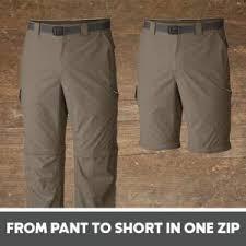 Rustic Ridge Pants Size Chart Columbia Mens Big And Tall Silver Ridge Tm Convertible Pant Extended